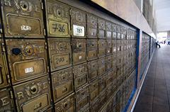 Mailcompartments, guayaquil, ecuador, southamerica Stock Photos