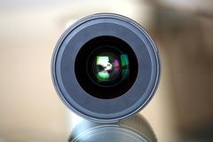 Stock Photo of frontal view of a photo lens