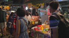 Liuhe Night Market - toy vendor Stock Footage
