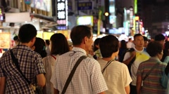 Liuhe Night Market - cinematic shot of people Stock Footage