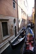 Canale with gondolas in venice italy Stock Photos