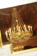 luster lustre chandelier candelabrum - stock photo