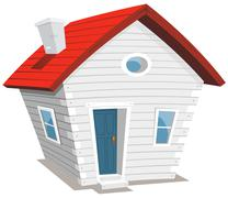 funny little house - stock illustration