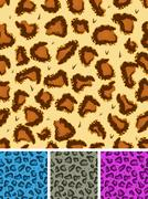 seamless leopard or cheetah fur background - stock illustration