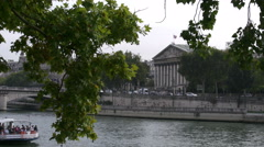 Paris National Assembly across Seine 4k Stock Footage