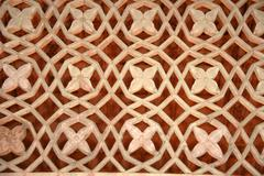 Background picture fine arts in sandstone flower ornaments in indian style ak Stock Photos