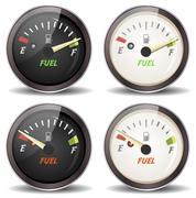 Fuel gauge icons set Stock Illustration