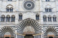 Genoa (italy), cathedral Stock Photos