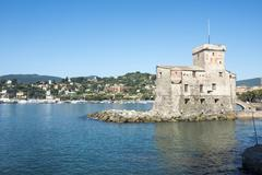 rapallo (genoa, italy) - stock photo