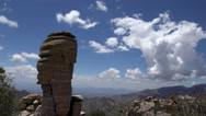 Stock Video Footage of 4K Clouds Rock Formations Mount Lemon Arizona Time Lapse