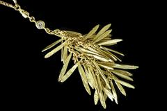 necklace indian gold jewellery - stock photo