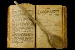 Old cookery book Stock Photos