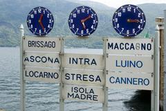Cannobio at the lago maggiore piedmont piemonte italy at the landing bridge Stock Photos