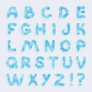 Christmas vector alphabet Stock Illustration