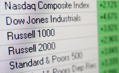 Dow jones, standard & poors, nasdaq, russell 1000, russell 2000, us stock mar Kuvituskuvat