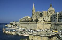 view of san salvatore bastion, valetta, la valetta, malta - stock photo
