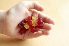 jelly bears from wholefood shop - stock photo
