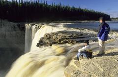 Stock Photo of alexandra falls of the hay river, northwest territories, canada