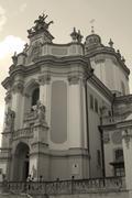 Greek Catholic Cathedral St.Yura - stock photo