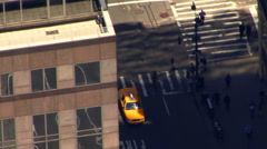 Taxi Passenger From Air New York Aerial View HD Stock Footage