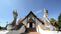 Phumin Temple In Nan, Thailand Stock Footage