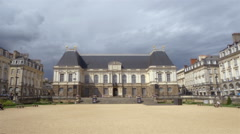 The Palace of Parliament of Brittany - Rennes France Stock Footage