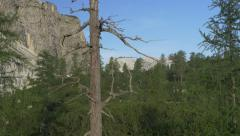 AERIAL: Beautiful mountain landscape Stock Footage