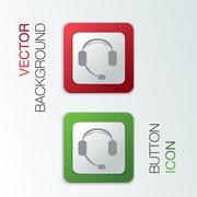 Customer support, headphone Stock Illustration