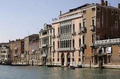 Facades of houses canale grande in venice italy Stock Photos
