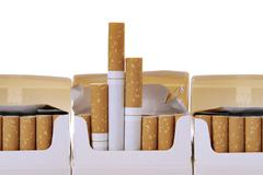 Stock Photo of cigarette packet