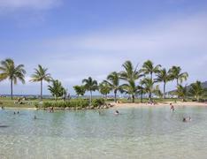 lagoon at the sea in airlie beach, queensland, australia - stock photo