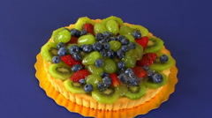 MIxed Fruit Tart Zoom In HD Stock Footage