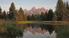 Schwabacher's Landing in Grand Teton National Park, Wyoming-Time Lepse 1080 Stock Footage