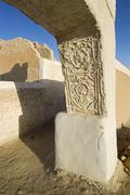 arcade arch in the historic center of ghadames, ghadamis, unesco world herita - stock photo