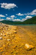 The rocky shore of  watauga lake, in cherokee national forest, tennessee. Stock Photos