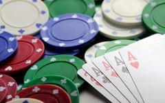 four aces casino   chips - stock photo