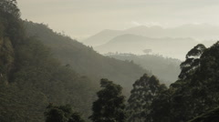 Tonal perspective of mountains Stock Footage