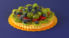 Sweet Fruit Mixed Tart Rotating HD Stock Footage