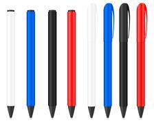 ballpoint pen  - stock illustration