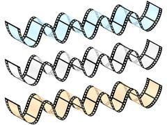 Film strip wave Stock Illustration