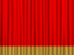 Red gold curtain Stock Illustration