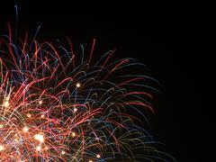 Rockets, light trace, fireworks, new year\'s eve Kuvituskuvat
