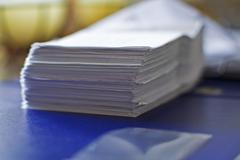 Stack of statements of bank account Stock Photos