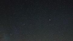Time lapse of stars behind mountains Pharilapche peak Stock Footage