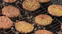 Juicy Hamburgers BBQ HD Stock Footage