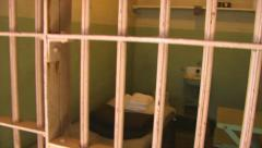 Jail Cell Corridor  HD Stock Footage