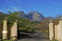 Somerset west, in the back the helder mountains, wine growing area, province  Stock Photos