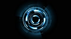 Abstract background with rotating blue lens, loop Stock Footage