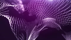 Abstract violet motion background with spinning dots Stock Footage