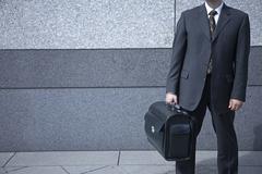 businessman on a businesstrip - stock photo